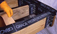 Grace Vycor Tape in use
